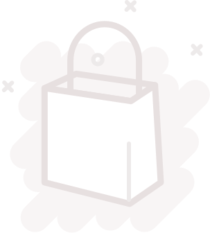 Magnifying glass and shopping bag